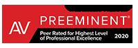 Martindale-Hubbell AV rating 2020